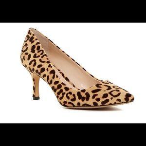 Vince Camuto leopard cheetah pony hair heels